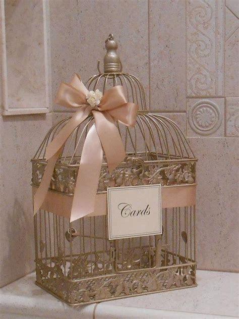 Large Champagne Gold And Blush Wedding Card Box / Wedding