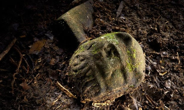 Archaeologists in Honduras have found dozens of artifacts at a site where they believe twin cities stood. Photograph: Dave Yoder/National Geographic