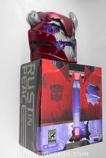 Transformers Terrorcon Cliffjumper Rust In Piece Deluxe - Prime SDCC - caja