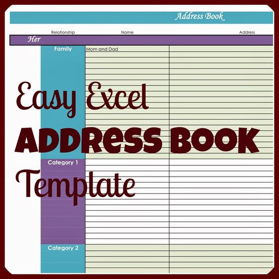 Why would you ever need an address book in Excel, when there are ...