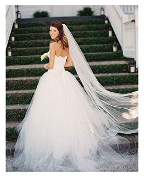 Belle House Tulle Sheer Wedding Bridal Veils Cathedral for