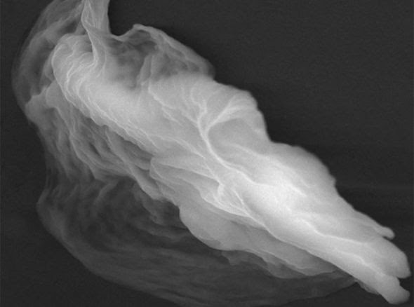 The ghost particle resembles a wisp of smoke