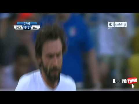 هدف بيرلو في مباراة إيطاليا - المكسيك