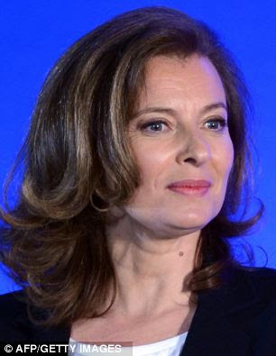 Valerie Trierweiler, the current partner of French President Francios Hollande