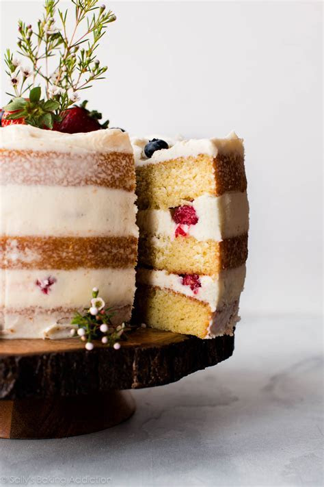 Vanilla Naked Cake   Sally's Baking Addiction