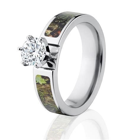 Camo Rings, Mossy Oak Obsession Engagement Ring w/ 1 CT CZ