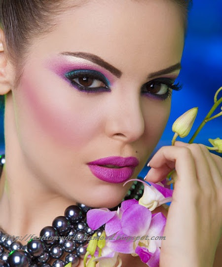 http://www.prettydesigns.com/wp-content/uploads/2014/04/Party-Makeup-Pink-and-Purple-Makeup-Ideas-11.jpg