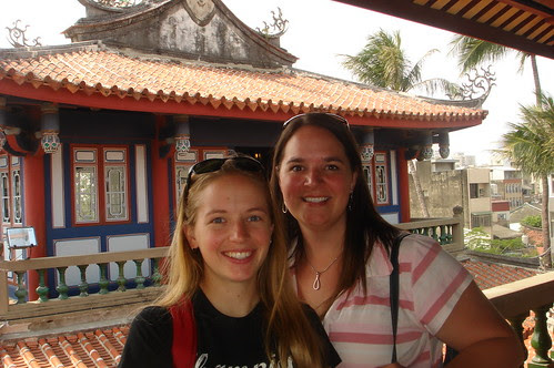 Julie and Me at Tainan's Chikan Tower