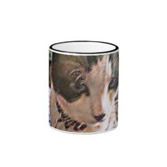 Snowshoe Pyschedelic Kitty Ringer Mug