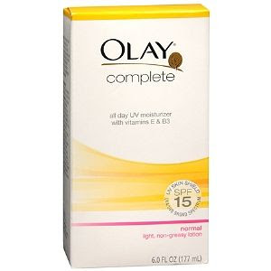 Olay Complete All Day UV Skin Shield Moisturizer Lotion SPF 15, Normal
