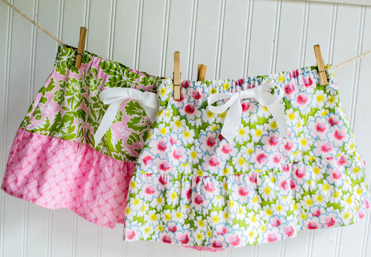 These are a few of my favorite little girls summer skirts tutorials and free patterns. So cute and easy to make!