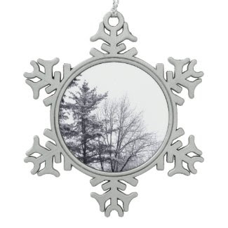 Snow-covered Trees: Vertical Ornament