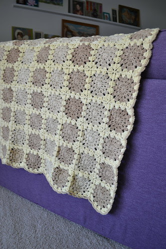 Crochet Blanket on the Purple Couch