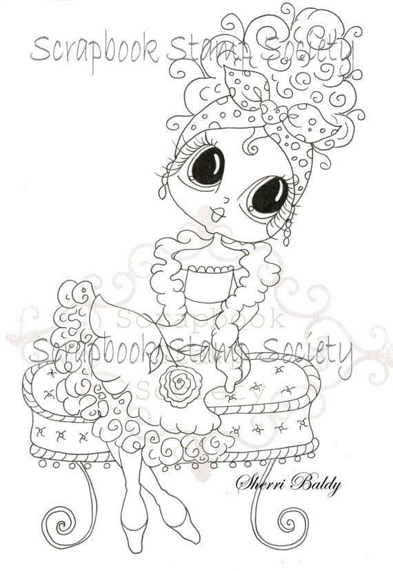 Digital Digi Stamps Big Eye Big Head Dolls Digi Lolita By Sherri Baldy