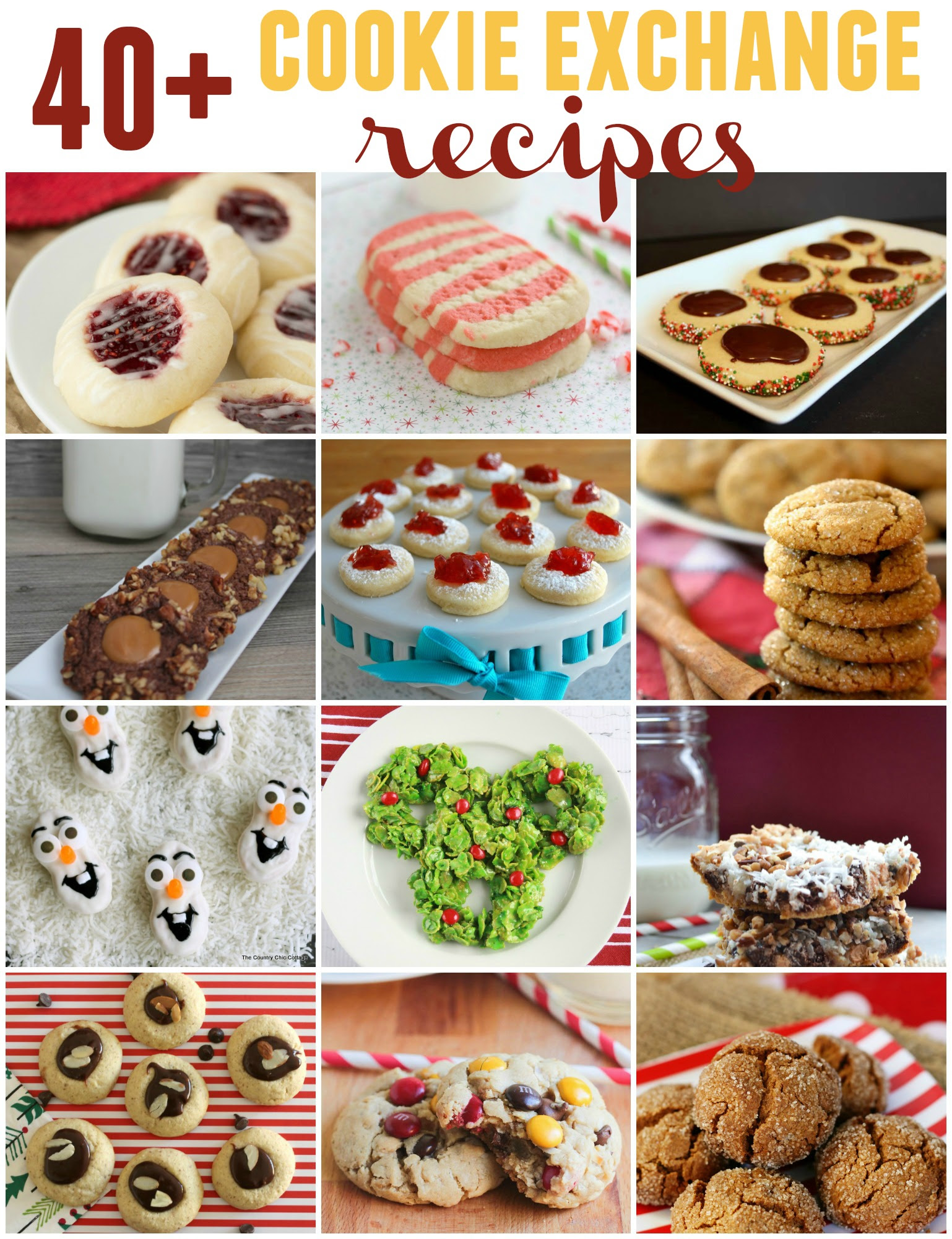 40+ cookie exchange recipes