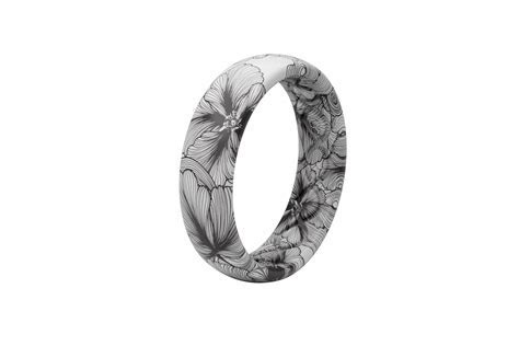 Women's Silicone Wedding Ring   Aspire   Bloom   Groove