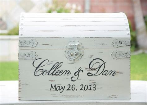 Large Vintage / Shabby Chic Wedding Card Box by