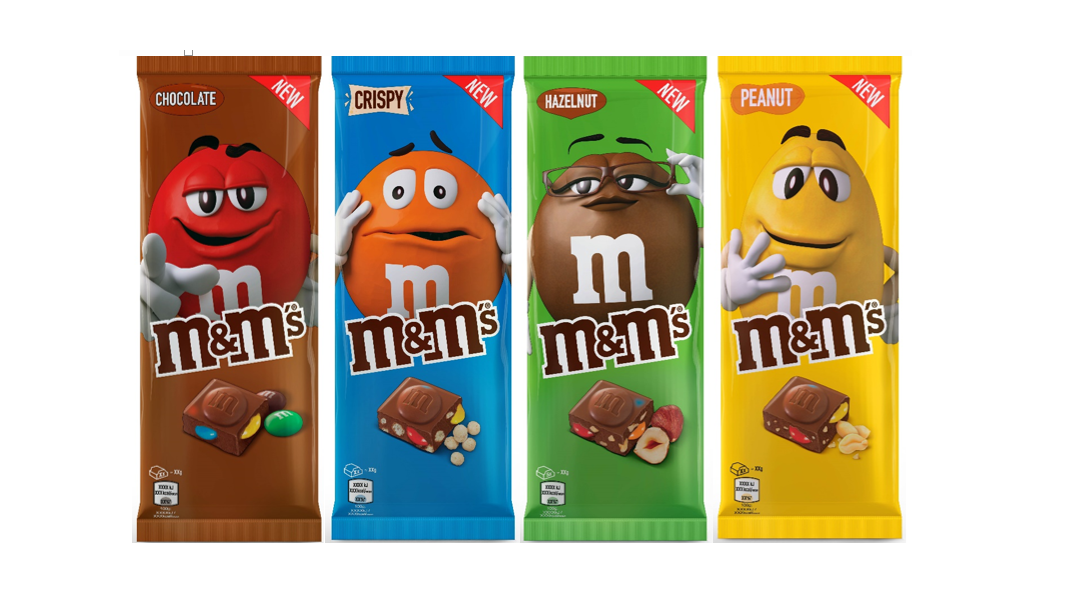 M M S Launch First Ever Chocolate Bars In The Uk Tyla