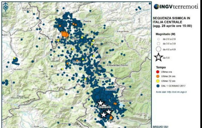 More than 65,5000 earthquakes hit Central Italy since August 2016, 65000 earthquake central italy swarm,
