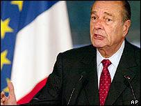Jacques Chirac forseti Frakklands