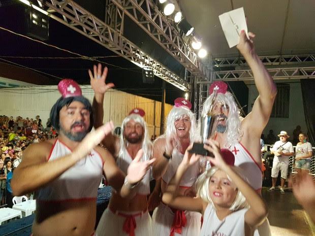 Bloco das Enfermeiras foi o vencedor do concurso das Escandalosas (Foto: Bruno Favaro/RPC)