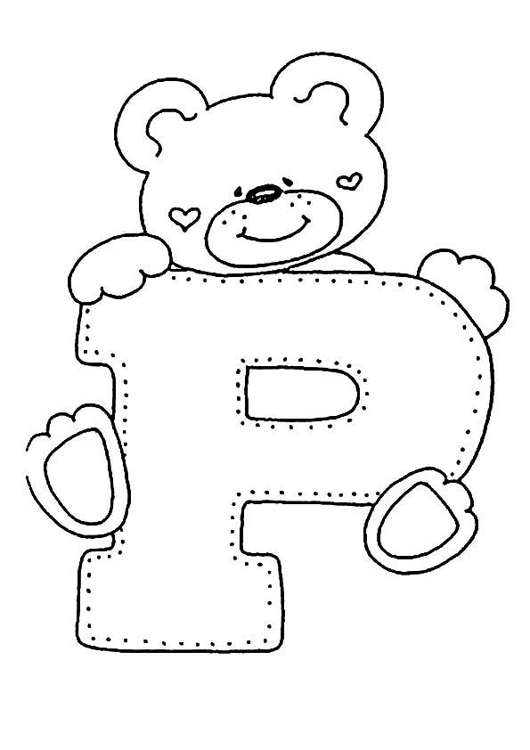 Letra P Para Colorear Dibujos Para Colorear