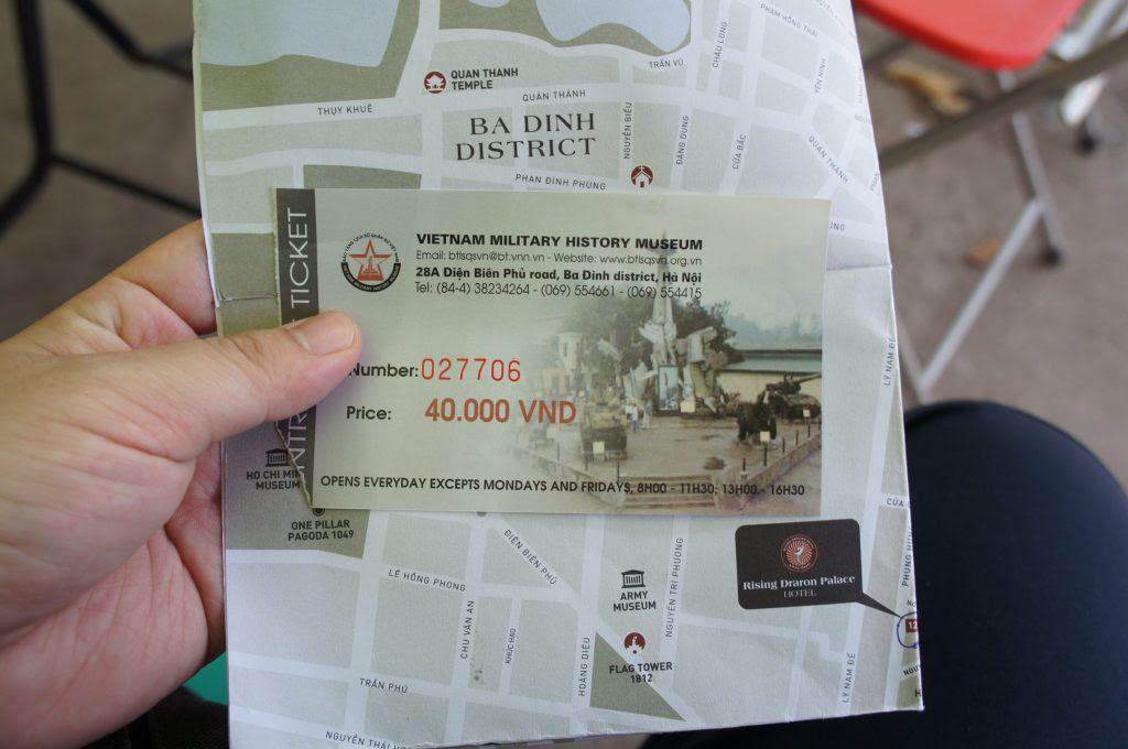 戦争証跡博物館の入場券