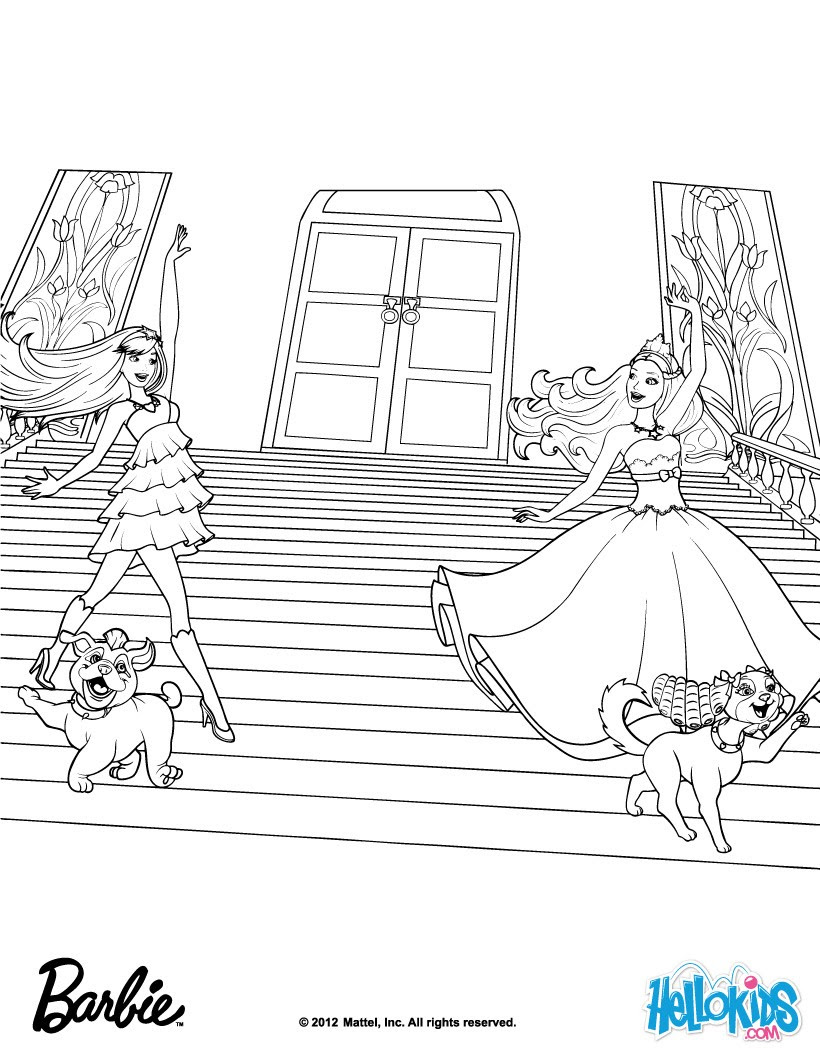 Barbie The Princess The Popstar Coloring Pages Coloring For Girls