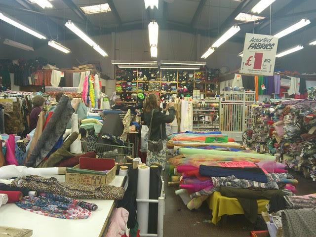 Inside of 'Barry's Fabrics' at Birmingham UK