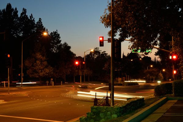 Another long-exposure snapshot that I took of a local street in Diamond Bar, California...on June 30, 2017.