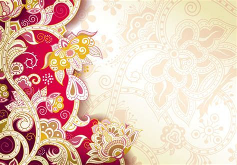 Floral Patterns retro style background 04 free download