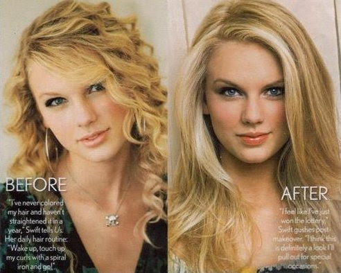 taylor swift curly hairstyles. Taylor Swift: Straight or
