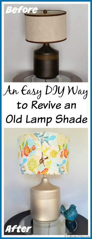 Easy DIY Way to Revive an Old Lamp Shade - A Cultivated Nest - HMLP 68 Feature