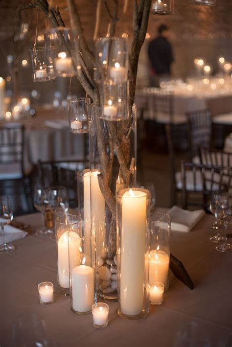 Love the candles and the stark feel of it   Wedding Decor