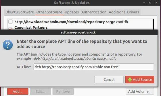 add spotify repository ubuntu