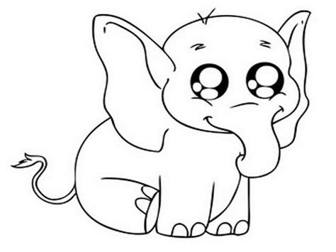 cute cartoon animals  big eyes coloring pages