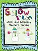 Snow Fun Math & Literacy Centers  Bundle
