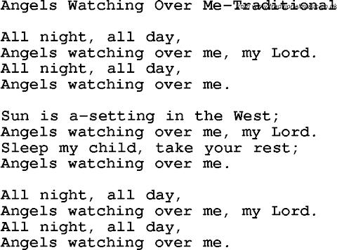 Angels Watching Over Me Lyrics
