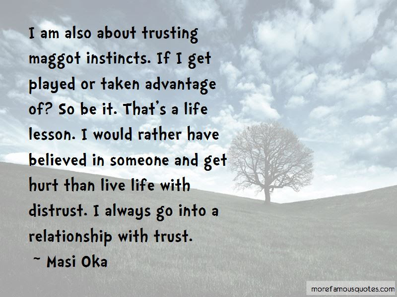 Life Lesson Trust Quotes Top 9 Quotes About Life Lesson Trust From