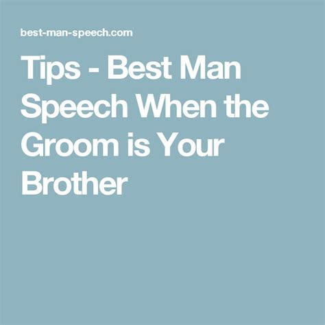 Tips   Best Man Speech When the Groom is Your Brother