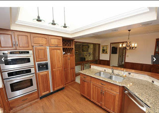 What paint colors work well with cherry cabinets or ...