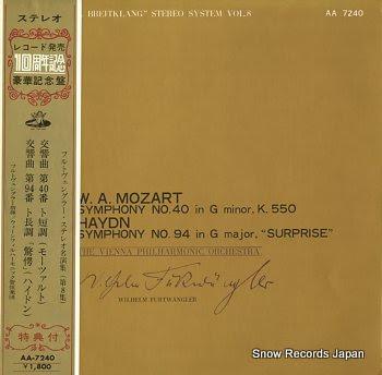 FURTWANGLER, WILHELM mozart; symphony no.40 in g minor k.550