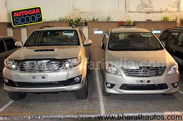 Spied – New Toyota Innova and Fortuner without camo in Bangalore