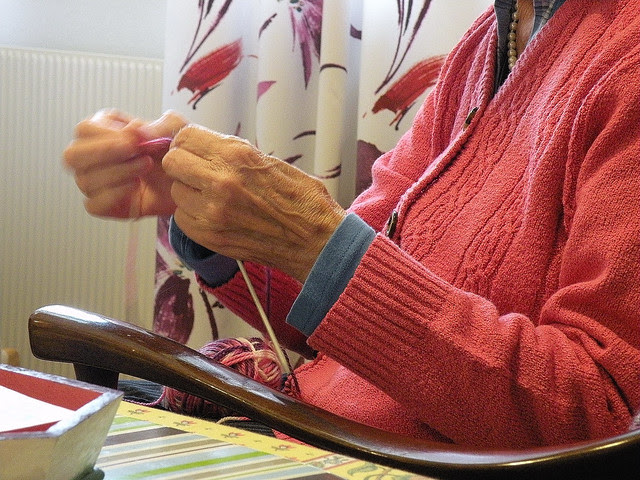 My grandmother knitting