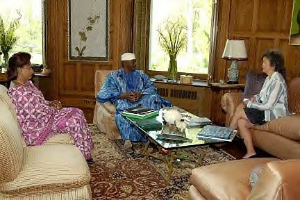 President Amadou Toumani Toure and Madame Lobbo in Canada. The Malian incumbent won the recent elections by a landslide. by Pan-African News Wire File Photos