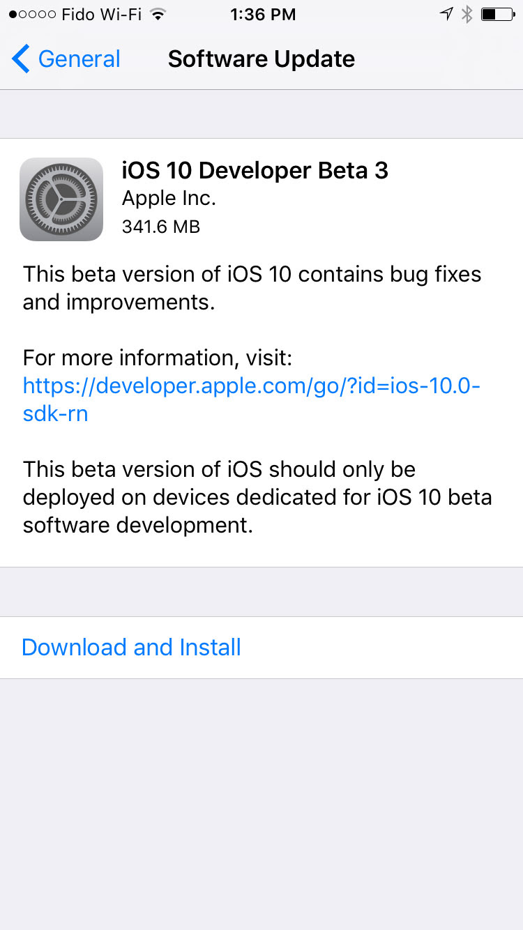 Apple Releases iOS 10 Beta 3 to Developers [Download]