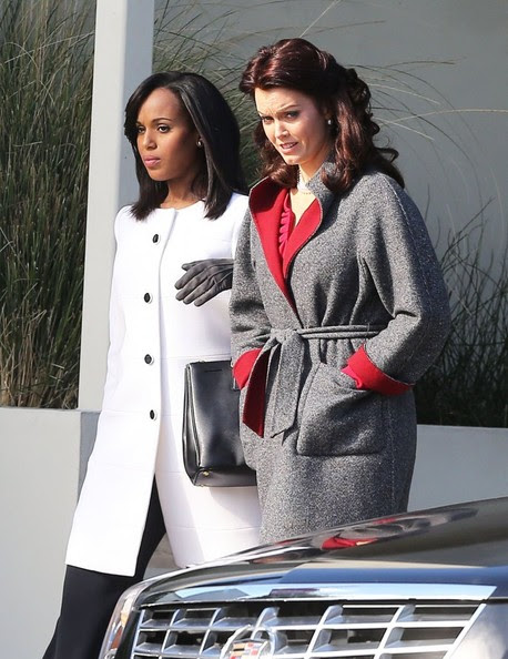 Kerry Washington - Kerry Washington Films 'Scandal' in LA