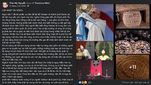 Làng chống Cộng và tin giả về Giáo hoàng Francis