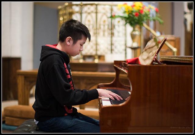Ryan at music recital