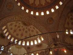 Corak Dalaman Kubah2 Blue Mosque, Istanbul, Turkey